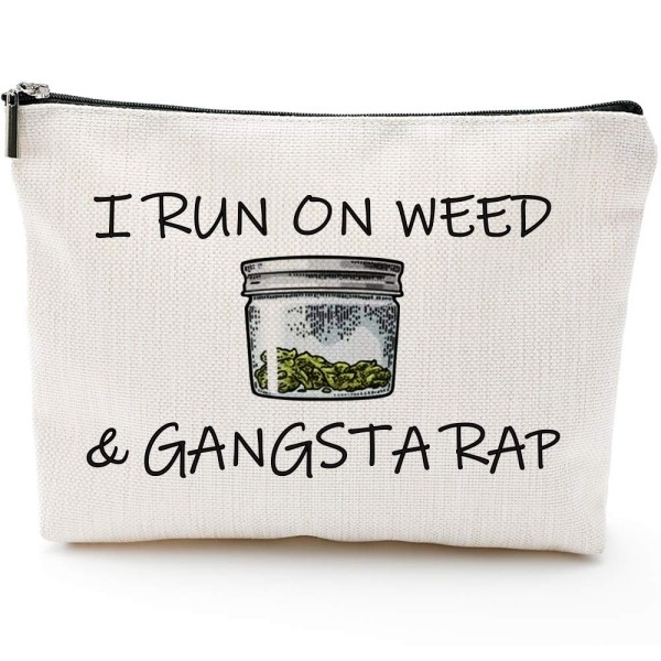 2. I Run on Weed & Gangsta Rap Makeup Bag