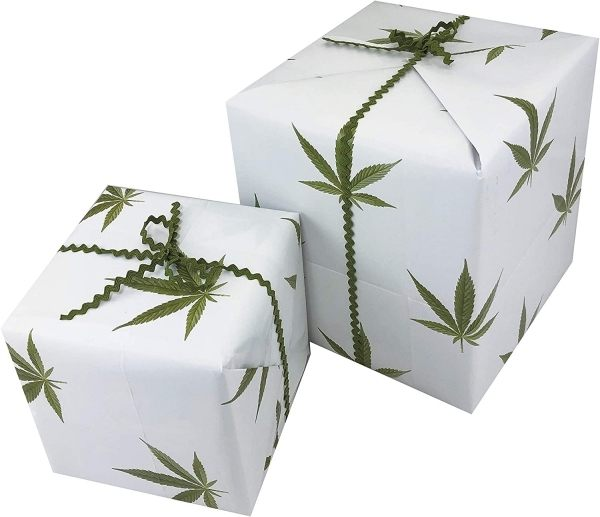 30. Gorilla Goodies Weed Leaf Wrapping Paper