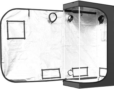 iPower GLTENTXS2 Hydroponic Water-Resistant Grow Tent